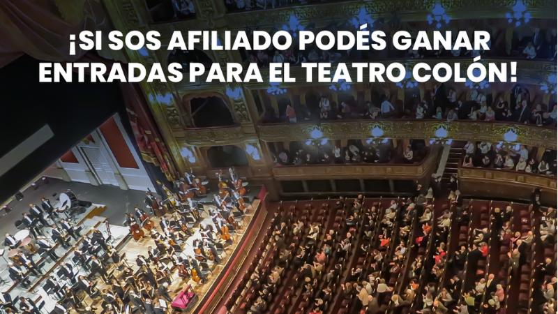 Sorteo de entradas para el Teatro Colón