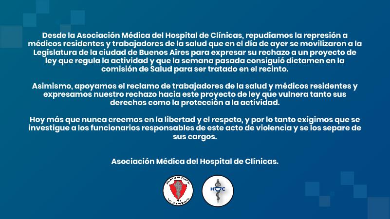 Repudiamos la violencia a médicos residentes y trabajadores de la salud